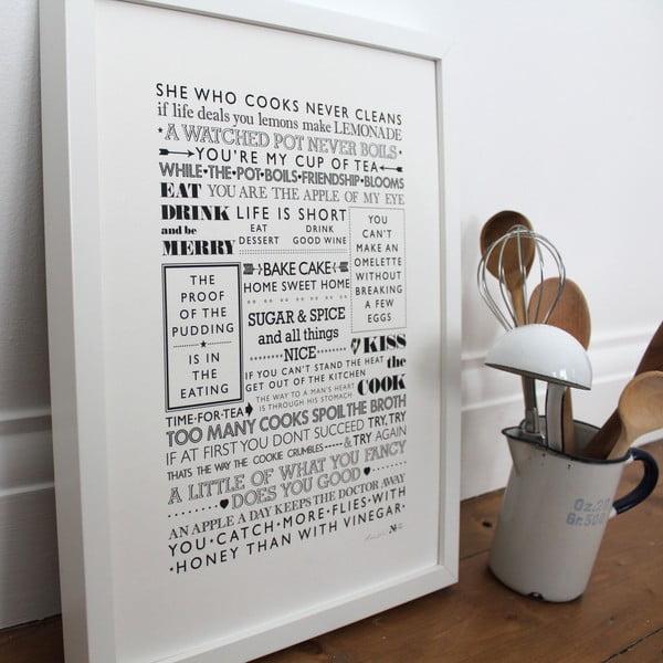 Plakát She Who Cooks, 30x40 cm