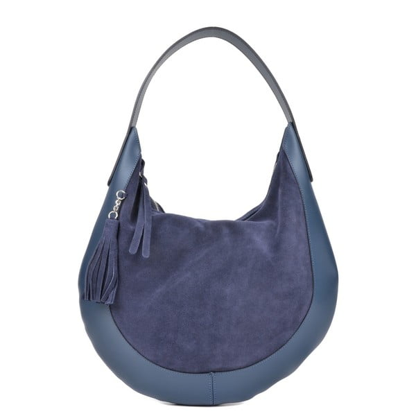 Modrá kožená kabelka Isabella Rhea Moon Blu