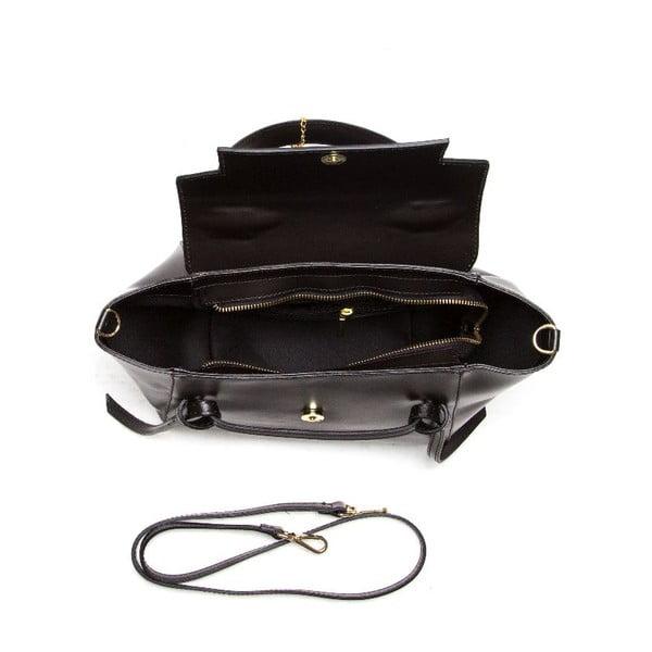 Kožená kabelka Isabella Rhea 394 Nero