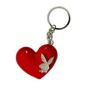 Klíčenka Playboy Flower Bunny Heart