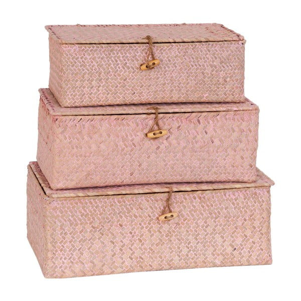 Sada 3 krabic Wild Pink