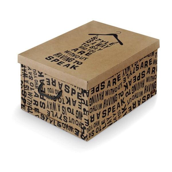 Pudełko z uchwytami Domopak Dark