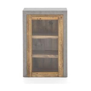 Šedá nástěnná skříňka z borovicového dřeva Woodking Stonewall