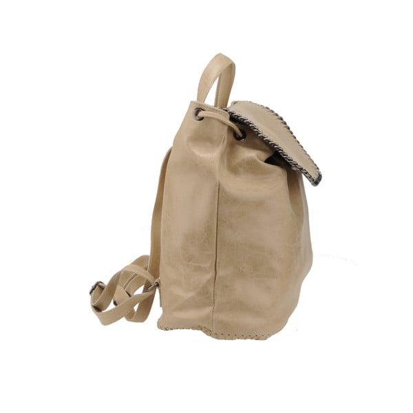 Kožený batoh Situla, béžový