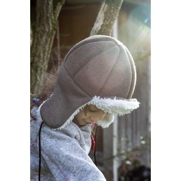 Dětská hnědá čepice s ochrannými prvky Ribcap Bieber, vel. L