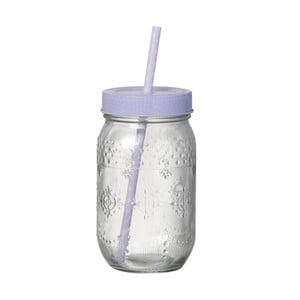 Světle fialová sklenice s brčkem Parlane Straw Violet