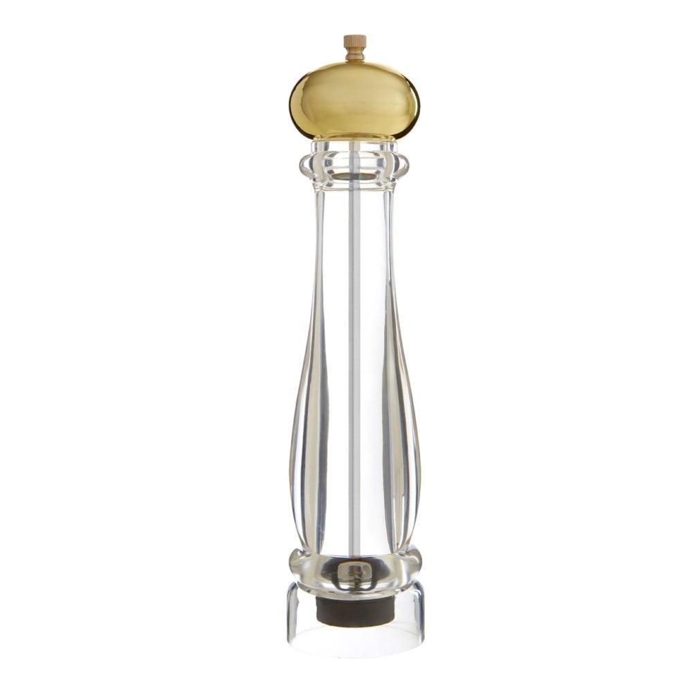 Velký mlýnek na sůl či pepř s detailem zlaté barvy Premier Housewares Mill