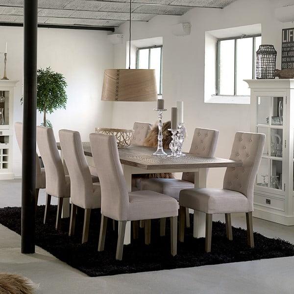Bílý rozkládací jídelní stůl Canett Skagen Butterfly, 220 cm