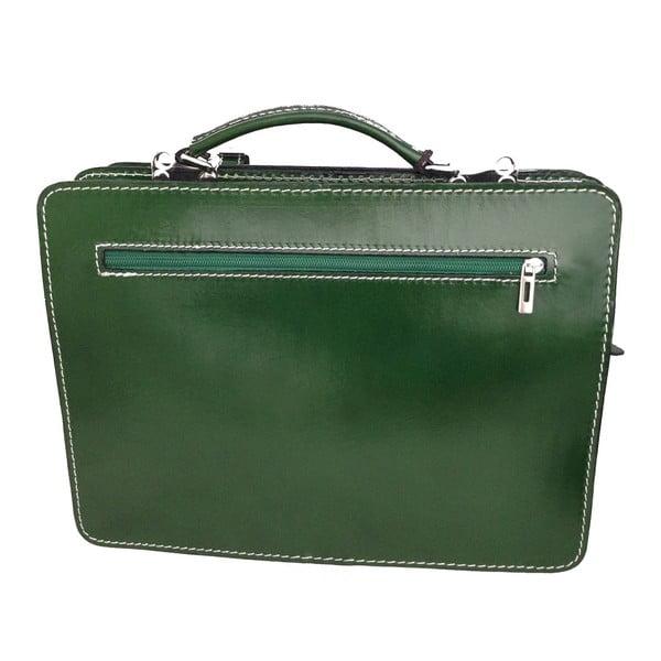 Zelená kožená taška Gaia