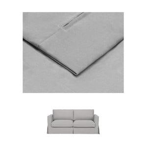 Světle šedý povlak na rozkládací trojmístnou pohovku THE CLASSIC LIVING Jean