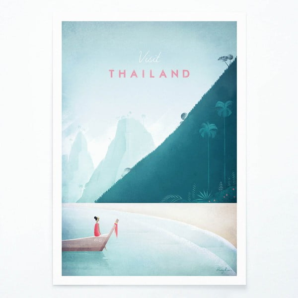 Plakát Travelposter Thailand, A2