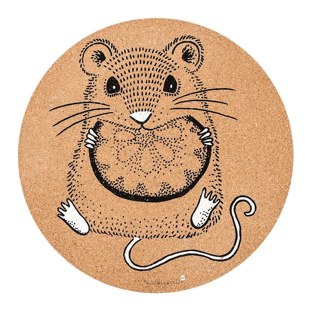 Korkové prostírání Bloomingville Mouse, ⌀ 37 cm
