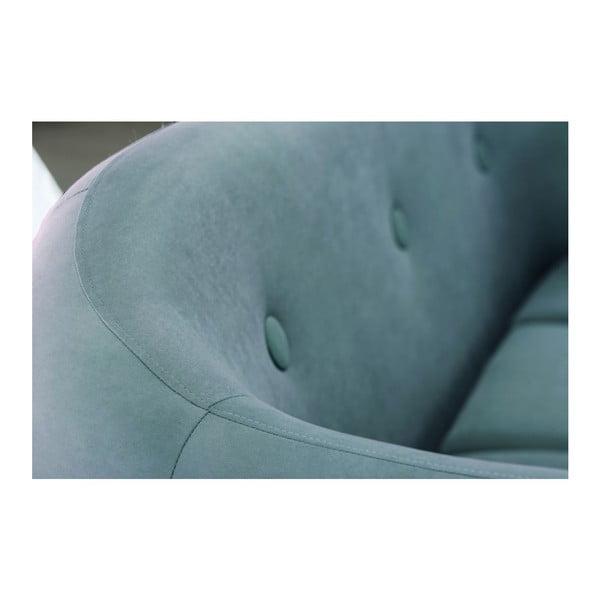 Canapea pentru 2 persoane Scandi by Stella Cadente Maison, turcoaz