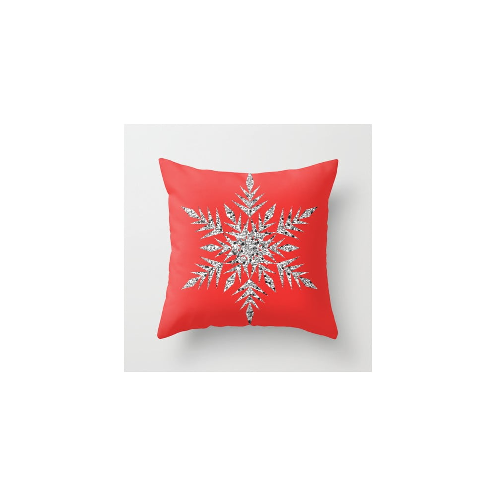 Povlak na polštář Snowflake Red, 45x45 cm