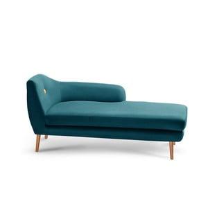 Canapea șezlong cu cotieră pe partea dreaptă Scandi by Stella Cadente Maison Louge, verde