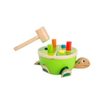 Jucărie cu ciocan din lemn pentru copii Legler Turtle Hammering de la Legler