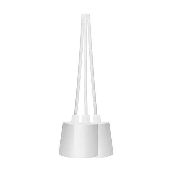 Bílé závěsné svítidlo se 3 kabely Bulb Attack Cero Group