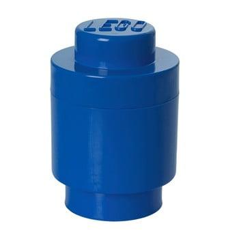 Cutie depozitare rotundă LEGO®, albastru, ⌀ 12,5 cm de la LEGO®