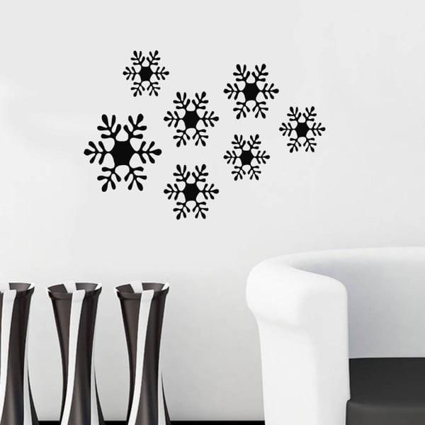 Snowflakes öntapadó falmatrica, 49 x 34 cm