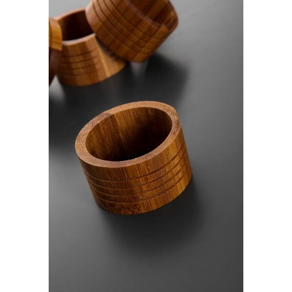 Sada 6 bambusových kroužků na ubrousky Bambum