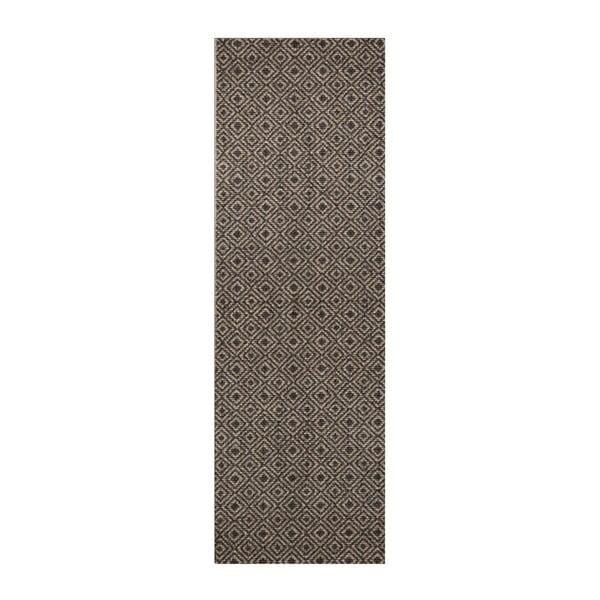 Hnědo-černý běhoun Hanse Home Cook & Clean Paula, 60x180cm
