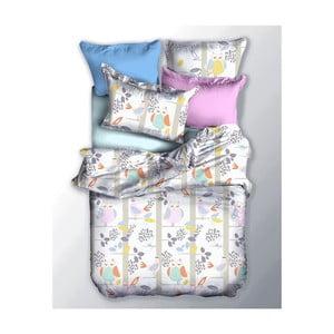 Lenjerie de pat reversibilă din microfibră DecoKing Basic Sowa, 135 x 200 cm