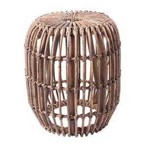 Tmavě hnědý ratanový odkládací stolek RGE Venus, ⌀ 77 cm