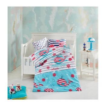 Lenjerie de pat din bumbac pentru copii Underwater 100 x 150 cm