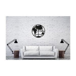 Černá nástěnná dekorace Oyo Concept Earth, 50x50cm