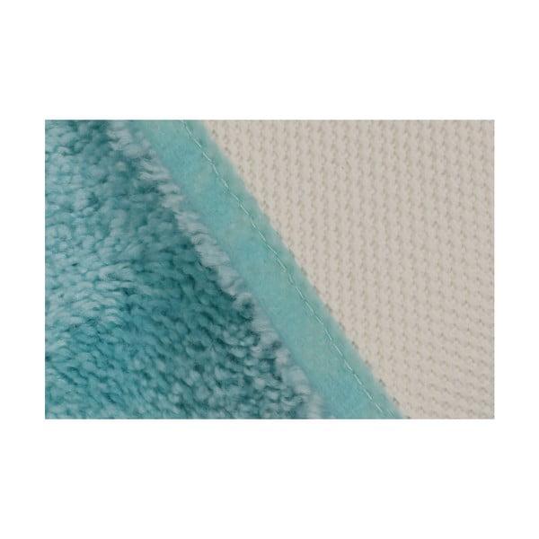 Tyrkysová koupelnová předložka Confetti Miami, 67x120cm