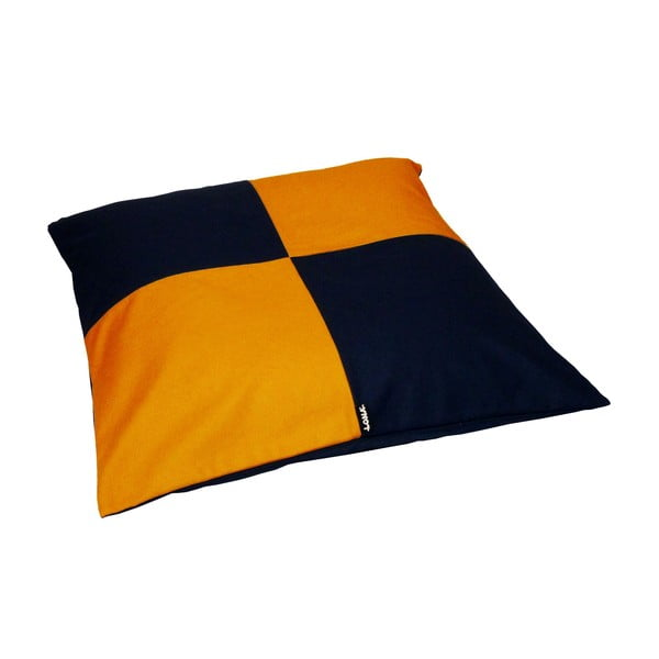 Lenošící puf Lona Puff 80x20 cm, modrý/žlutý