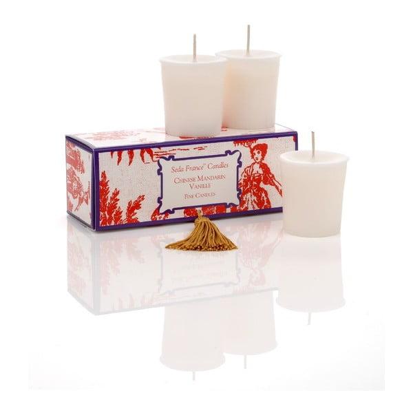Sada 6 svíček Chinese Mandarin, 12-15 hodin hoření