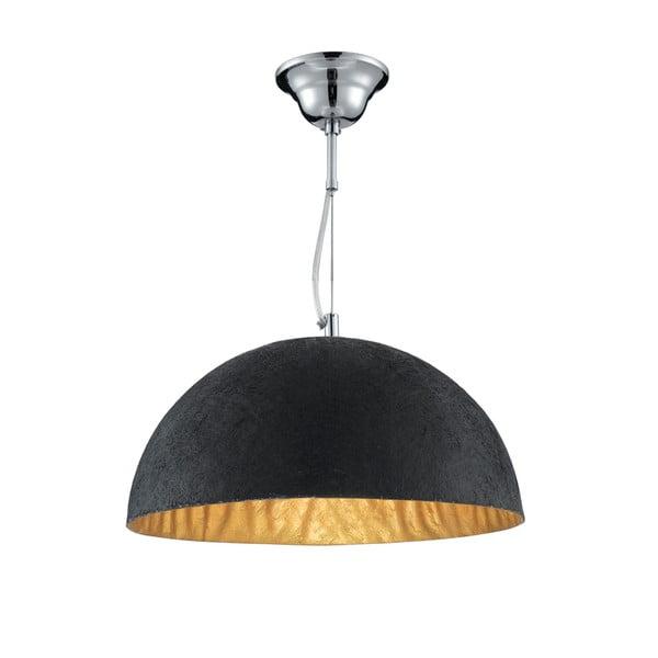 Stropní svítidlo Searchlight Dome, černá/zlatá