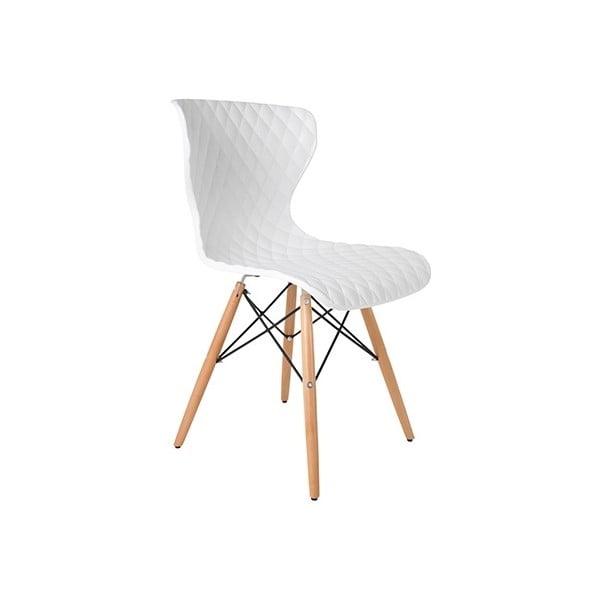 Bílá židle Crow Beech