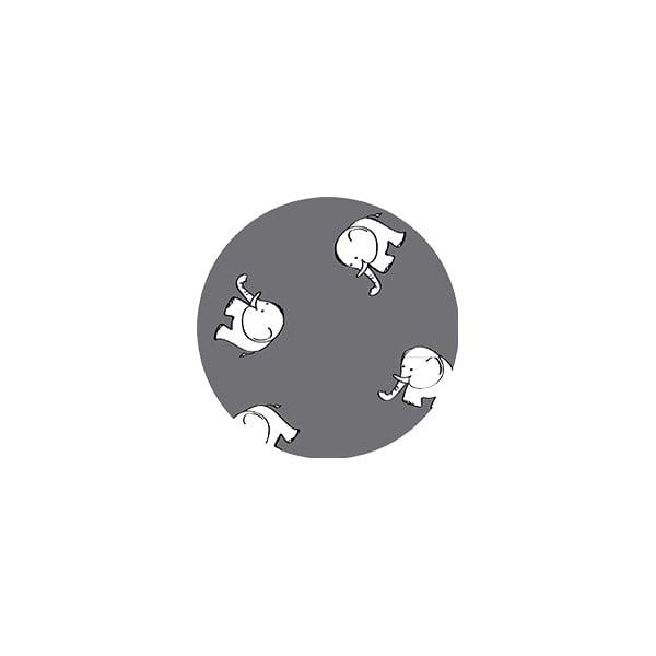 Stylové návleky na rukojeť kočárku Single, grey elephant