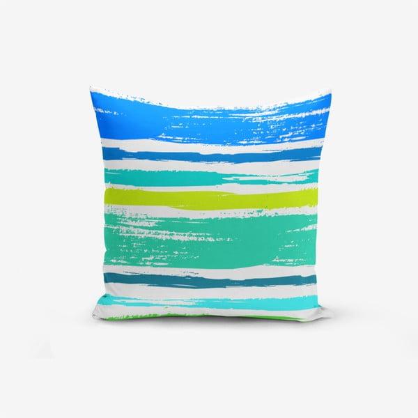 Față de pernă cu amestec din bumbac Minimalist Cushion Covers Colorful Boyama Desen, 45 x 45 cm