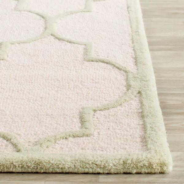 Vlněný koberec Everly Cream, 76x243 cm