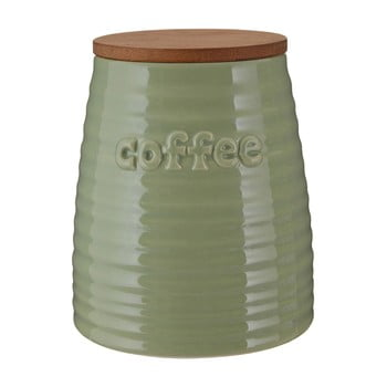 Recipient pentru cafea cu capac din bambus Premier Housewares Winnie, 950 ml, verde imagine