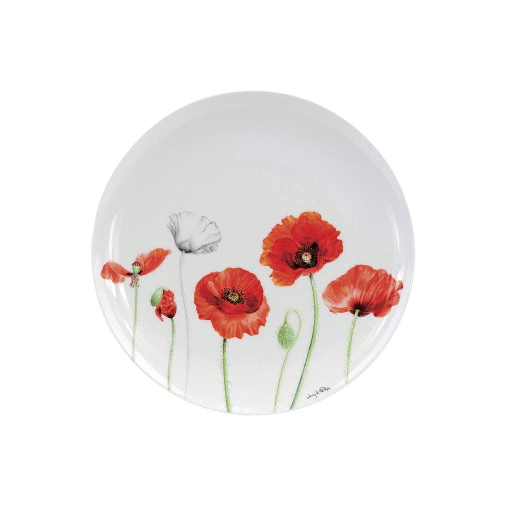 Talíř z kostního porcelánu Ashdene Poppies, ⌀27cm