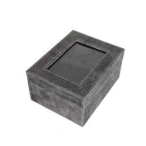 Úložná krabice Cordoba Grey, 22x18 cm