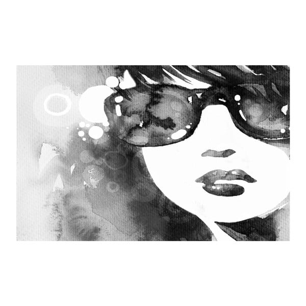 Obraz Black&White Sunglasses, 45 x 70 cm