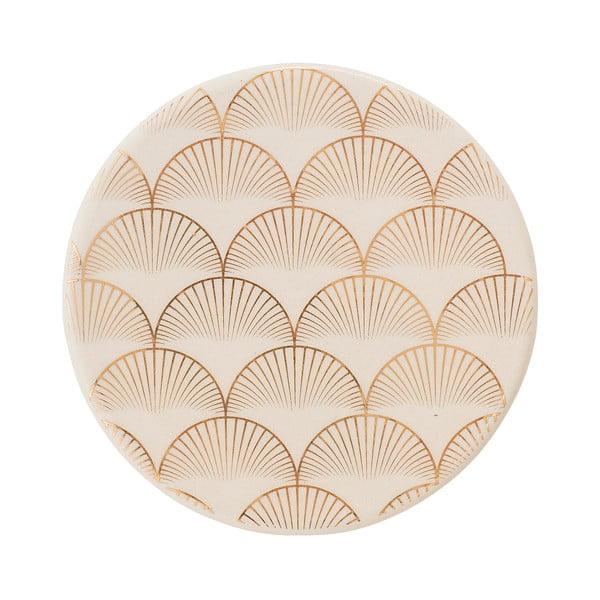 Suport din ceramică pentru pahar Bloomingville Aruba Trivet, auriu