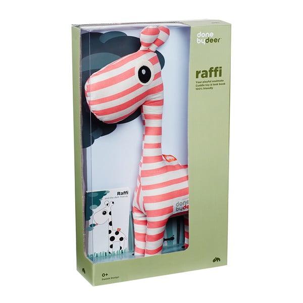 Plyšák Raffi Rapsberry s obrázkovou knížkou