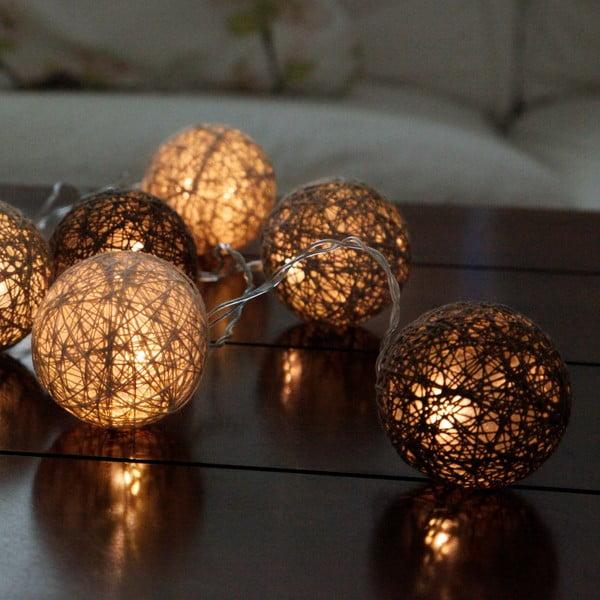 Hnědý světelný LED řetěz Best Season Jolly Lights, 10 světýlek