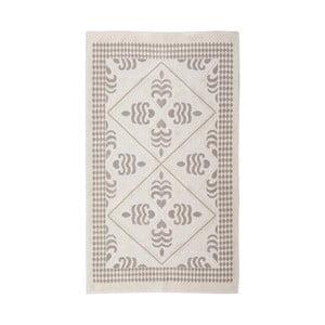 Krémový bavlněný koberec Flair, 60 x 90 cm