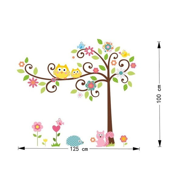 Autocolant Ambiance Tree and Owl