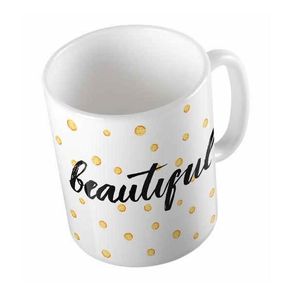 Keramický hrnek Hello Beautiful, 330 ml