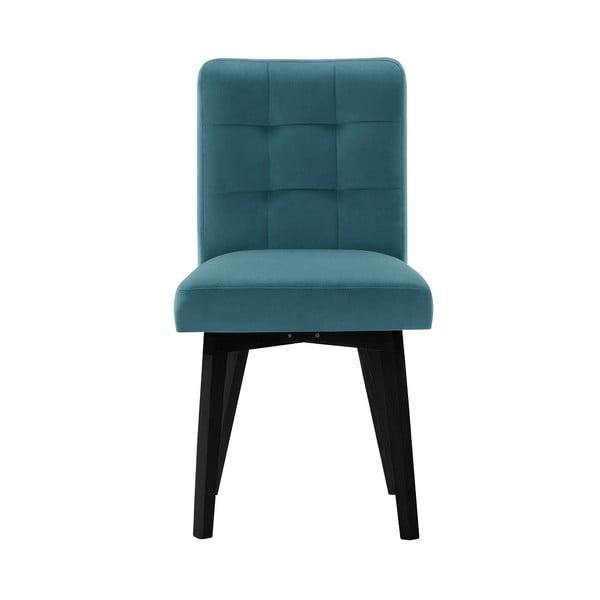 Tyrkysová jídelní židle sčernými nohami My Pop Design Haring