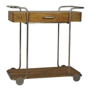 Servírovací pojízdný stolek z mangového dřeva Miloo Home Savoy