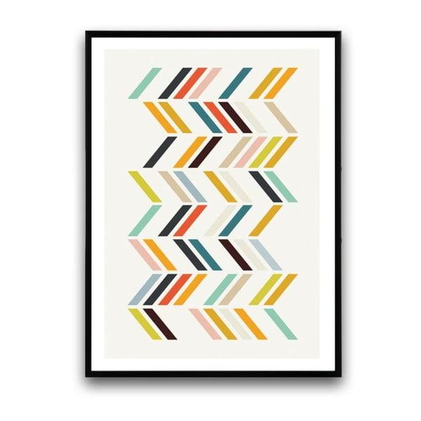 Plakát v dřevěném rámu Japonica, 38x28 cm